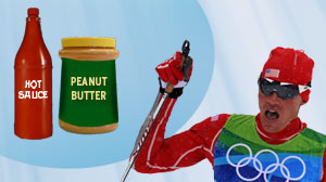 Secret to Olympic Medal: Peanut Butter and Hot Sauce