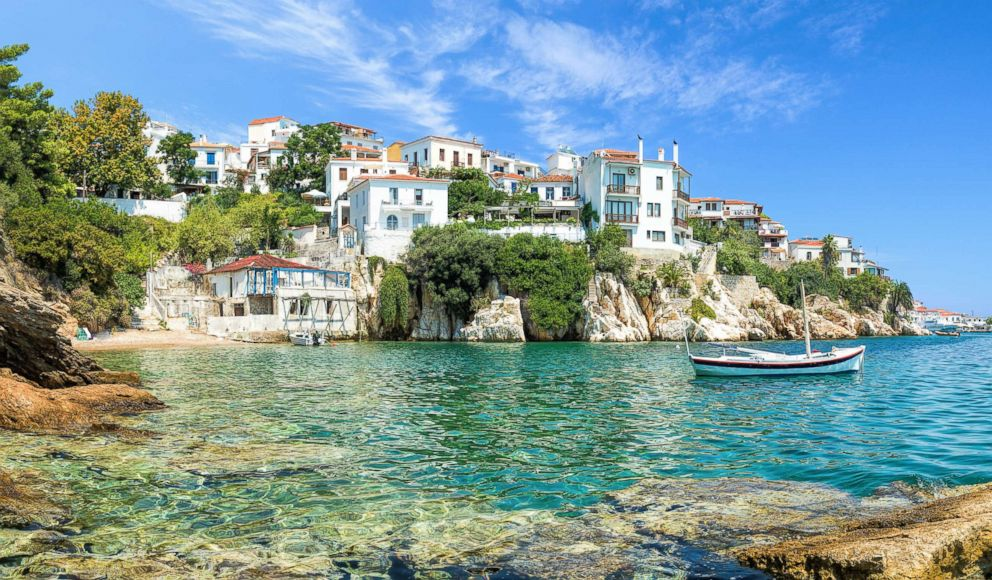 PHOTO: The Old Port in Skiathos is the setting for the scene in Mamma Mia! where the three fathers met for the first time.