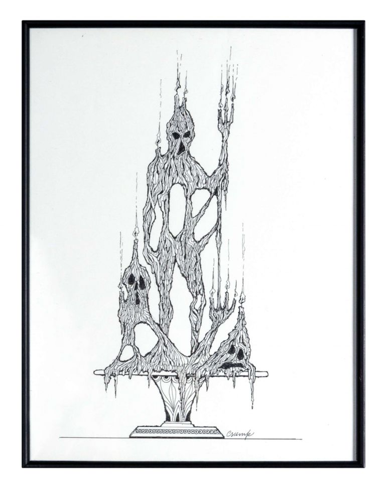 PHOTO: A sketch of a Weird Candle Man was originally part of Walt Disneys idea for The Museum of the Weird, at Disneylands Haunted Mansion attraction.