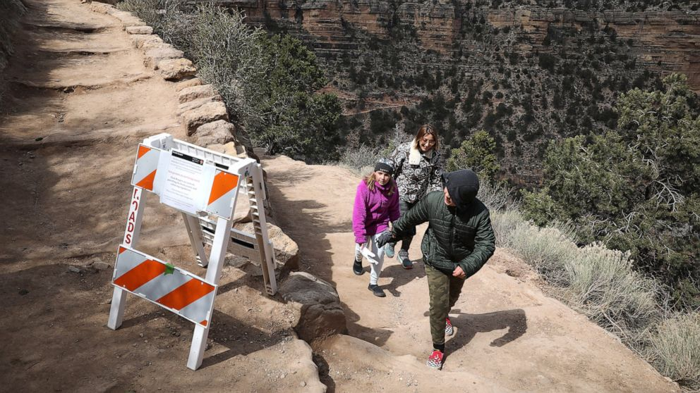 Calls mount to close Grand Canyon after resident gets virus
