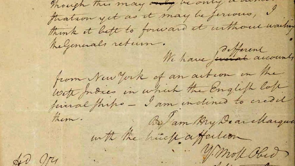 Alexander Hamilton letter at center of legal fight returned