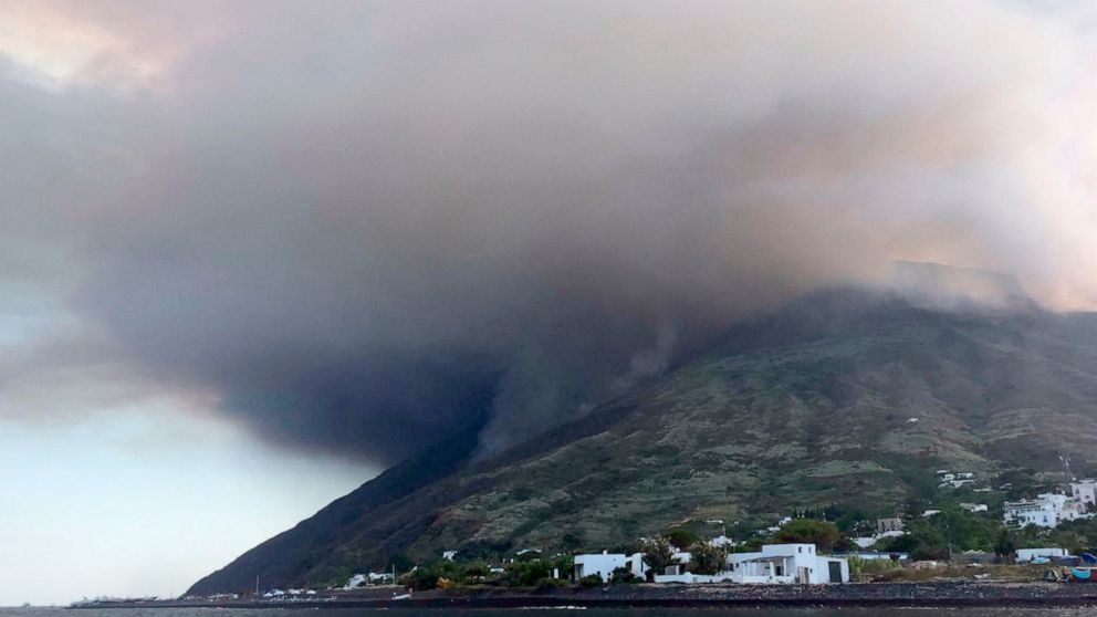 Italy firefighters douse fires on Stromboli after eruptions