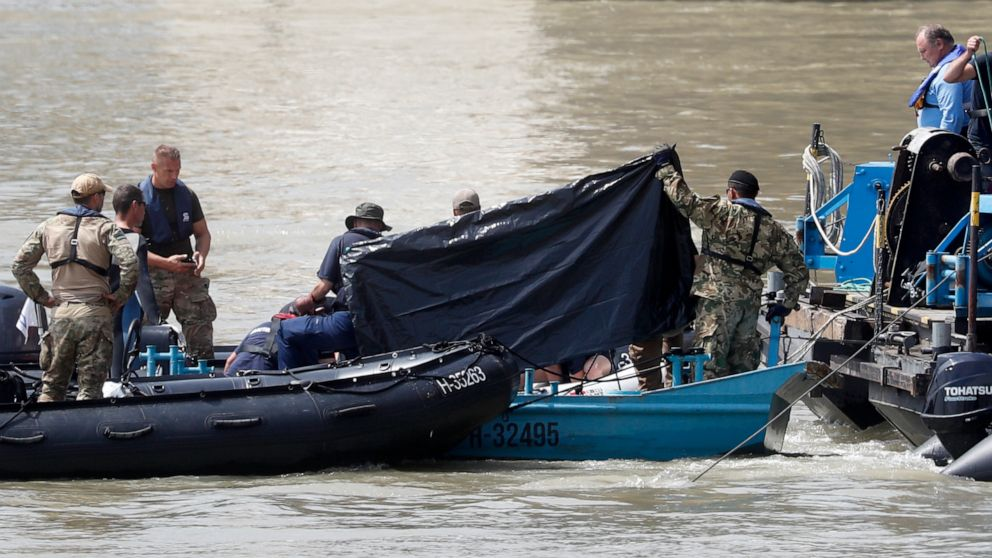 The Latest: Body of 10th victim found on sunken Danube boat