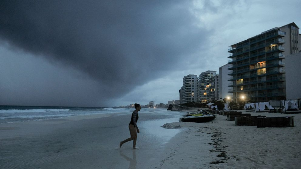 Hurricane Zeta is ashore in resort zone of Mexico's Yucatan