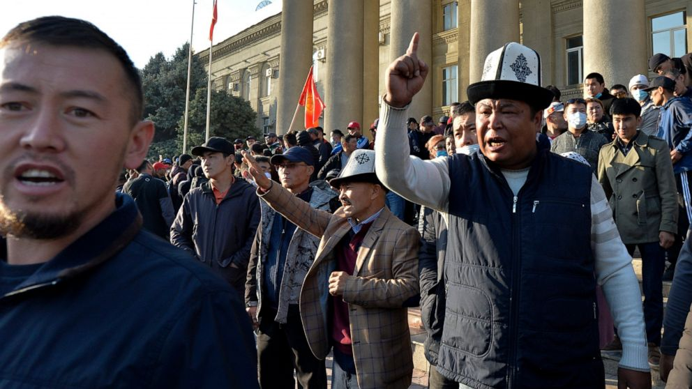 Kyrgyz president declares state of emergency amid protests