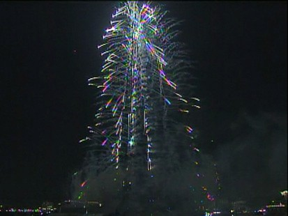 VIDEO: The worlds tallest building in Dubai is inaugurated with a dazzling fireworks show.