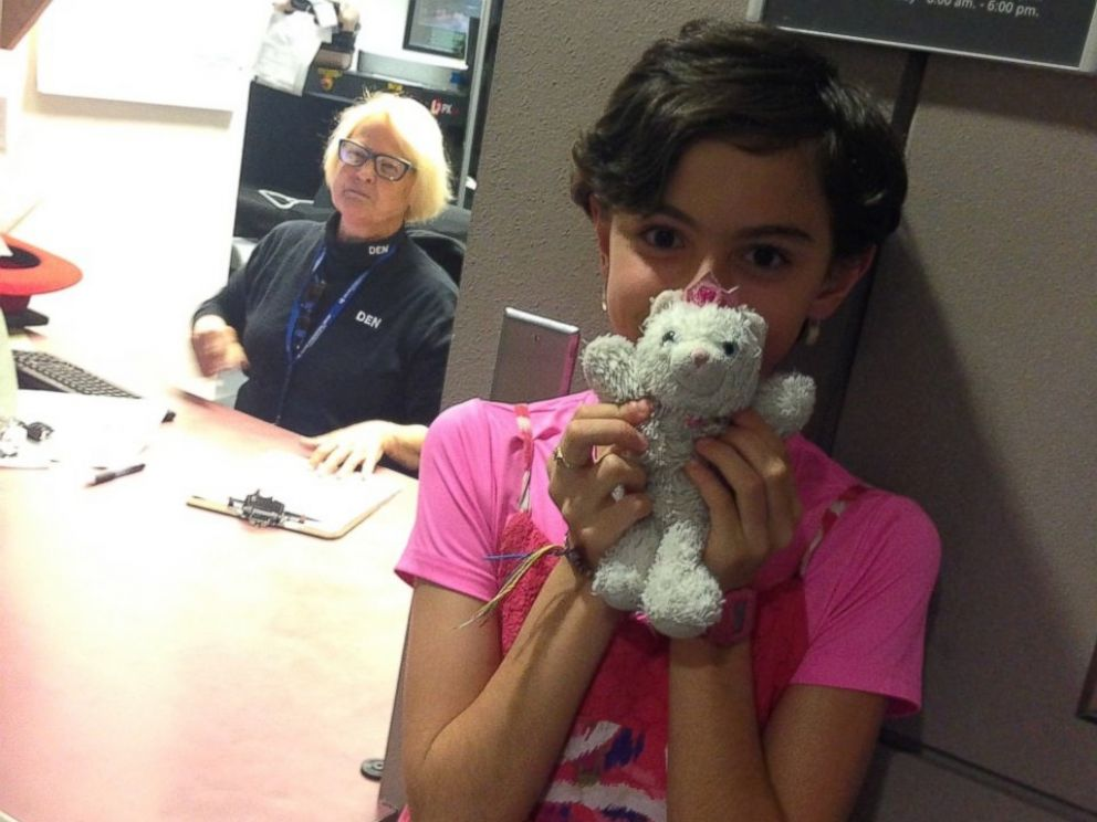 PHOTO: Annie, 9, poses with Princess Kitty after their reunion.