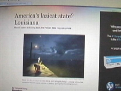 Video: U.S. Bureau of Labor Statistics names Louisiana the laziest state.