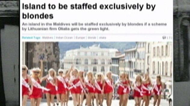 Video: Resort hires only blonde women.