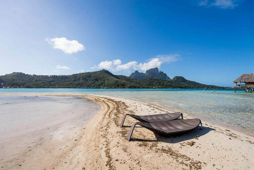 Beach at Sofitel Bora Bora Private Island.