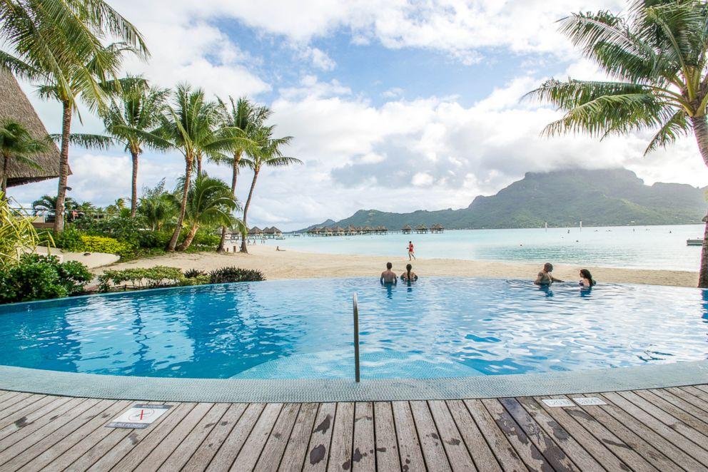 PHOTO: The beach at Le Meridien Bora Bora.