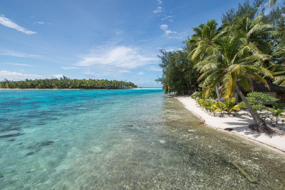 PHOTO: The beach at Blue Heaven Island.