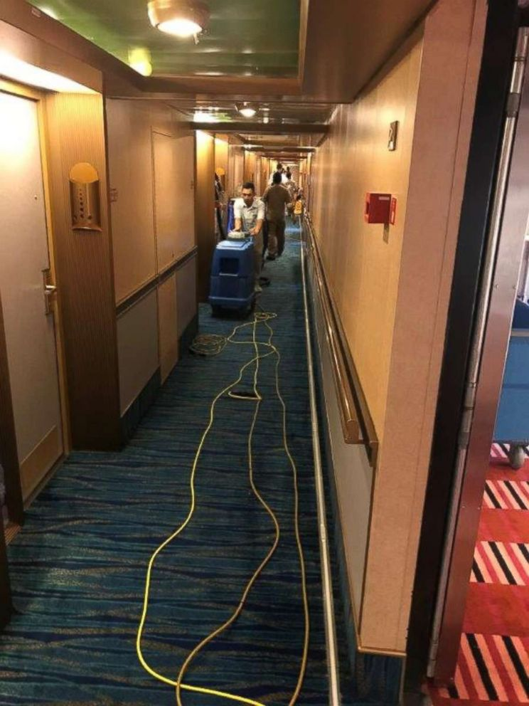 Carnival Cruises was quick to clean up after a water line break flooded 50 rooms on the Carnival Dream on Thursday, May 3, 2018.