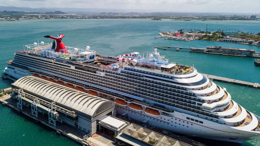 The Carnival horizon cruise ship is pictured here.
