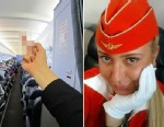 PHOTO: Flight attendant Tatiana Kozlenko posted a picture of herself giving her passengers the finger has been fired by Aeroflot airline.