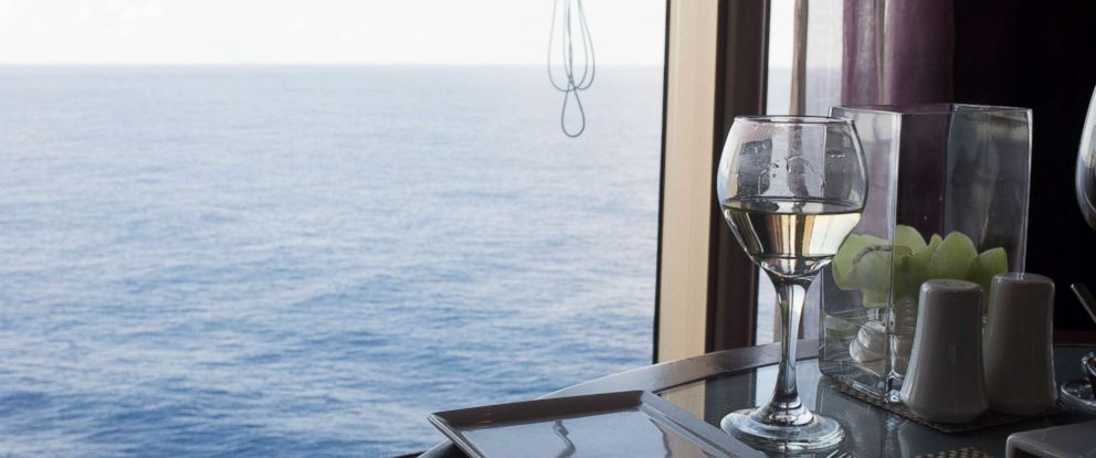 PHOTO: A glass of wine is seen on the Eurodam cruise ship.