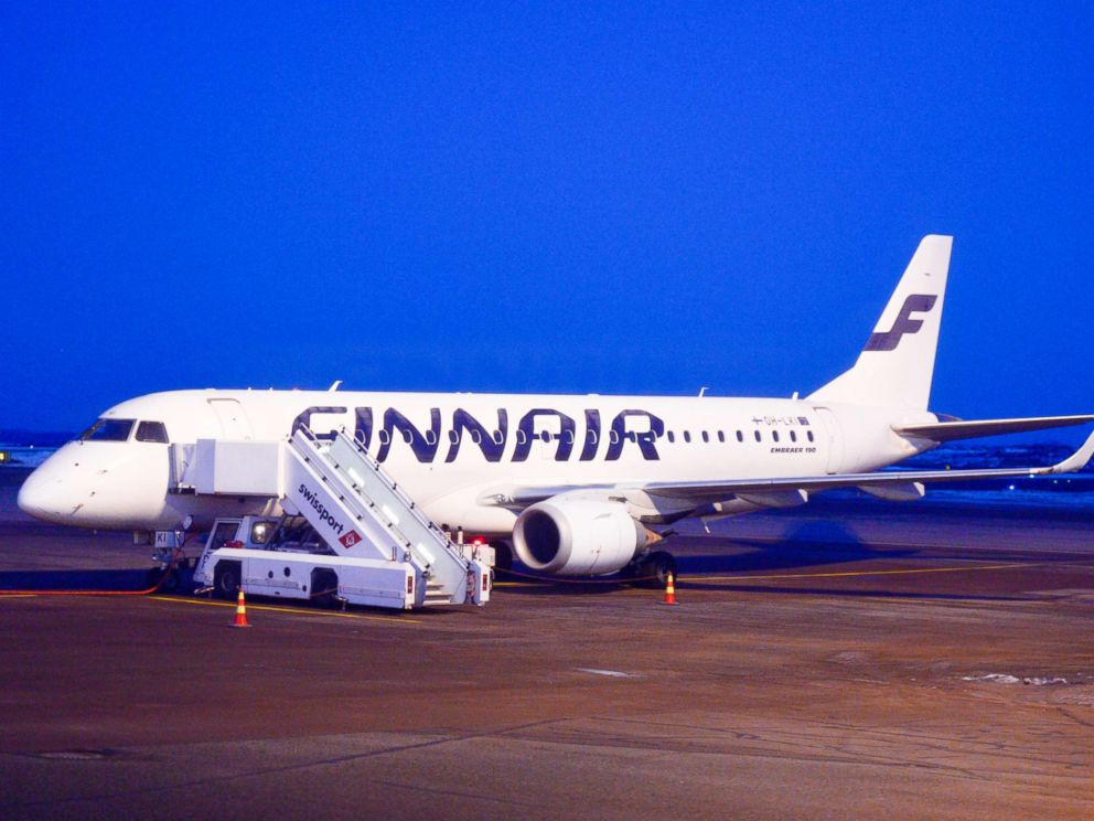 PHOTO: A view of a Finnair plane docked at Helsinki-Vantaa Airport, March 6, 2017.