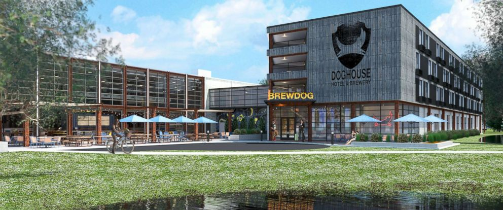 PHOTO: A rendering of the exterior of DogHouse hotel.