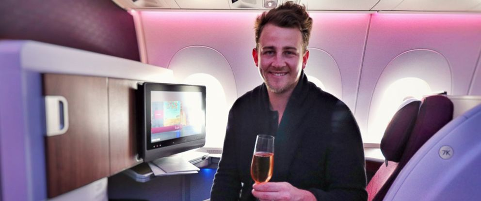 PHOTO:: Travel blogger Gilbert Ott of God Save The Points promises to give travelers his first- or business-class seat if they see him at the airport and ask to switch.