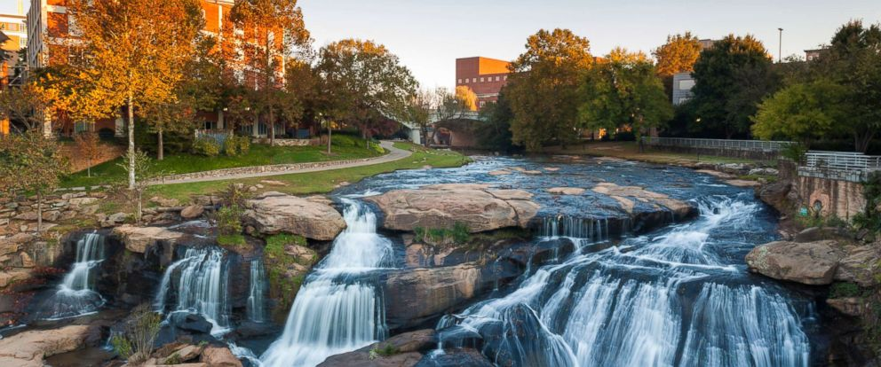 PHOTO: Falls Park on the Reedy River, Greenville, South Carolina.