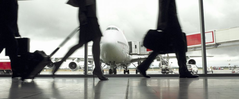 PHOTO: Travelers are pictured in an airport in this undated stock image.