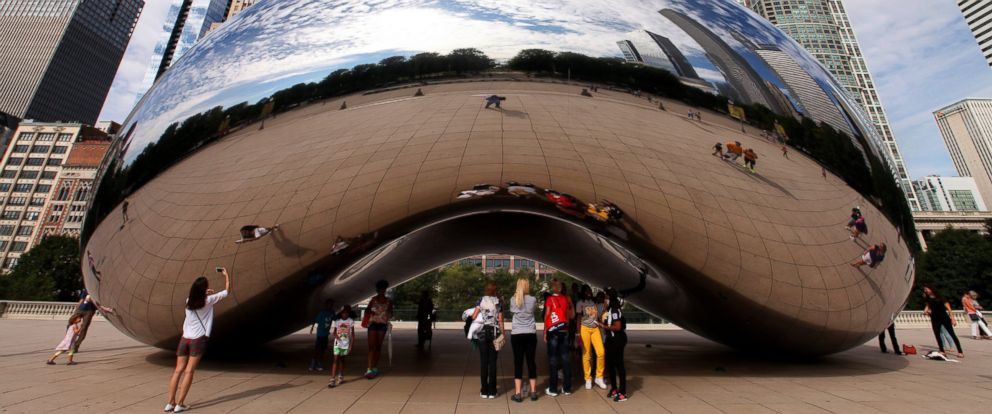 """PHOTO: Anish Kapoors Cloud Gate sculpture, also known as """"The Bean,"""" is a must-see attraction in Millennium Park in Chicago."""