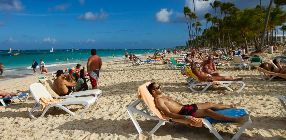 PHOTO: Tourists rest at Bavaro beach, in Punta Cana, Dominican Republic, on January 16, 2012.