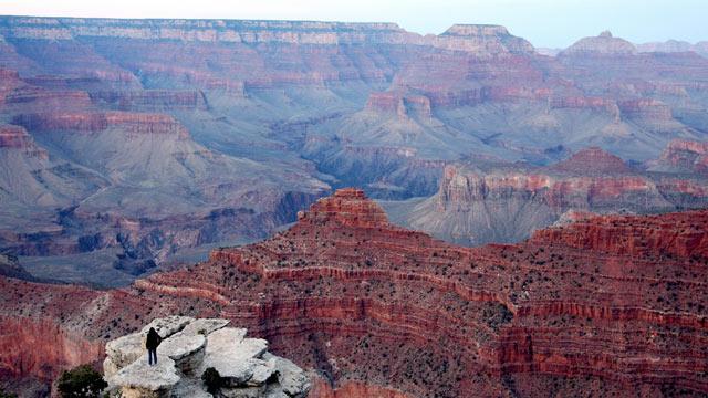 PHOTO: A view of the Grand Canyon, Arizona, 05 April 2007.