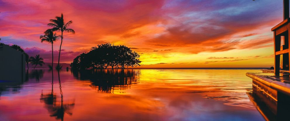 PHOTO: A stock image of a sunset in Maui, Hawaii.