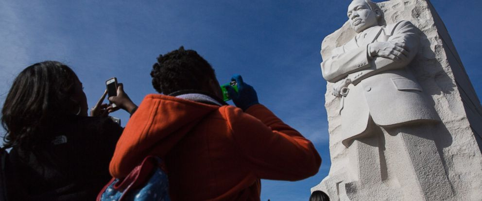 PHOTO: People visit the Martin Luther King, Jr. Memorial, Jan. 20, 2014 in Washington, DC.