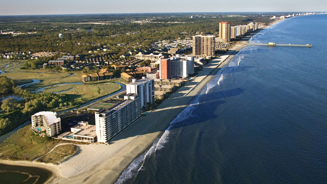Photo The Best Vantage Point To Enjoy Myrtle Beach May Be From Above With Helicopter