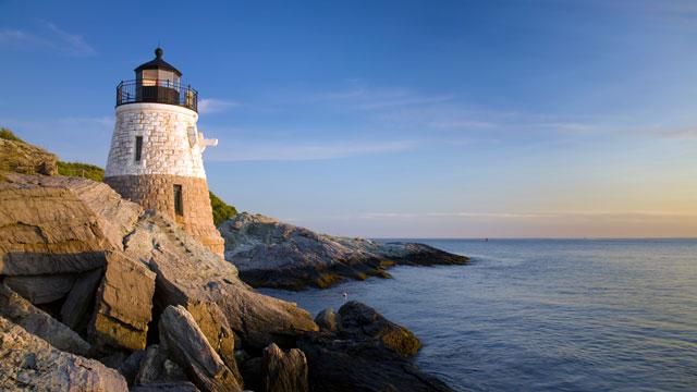 PHOTO: Castle Hill Light is seen on Newport Rhode Island's coast.