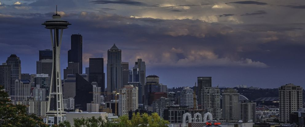 PHOTO: The Space Needle in Seattle, Wash. is pictured from Kerry Park during sunset, Sept. 21, 2013.
