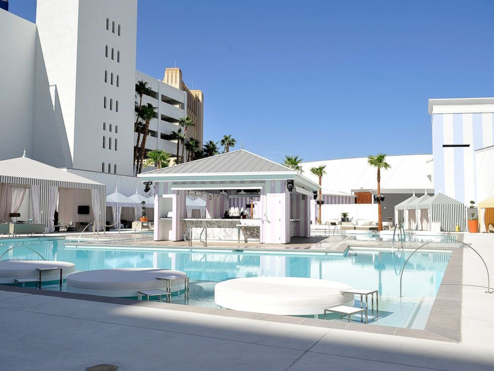 PHOTO: A general view of the pool as SLS Las Vegas prepares to open after $415M renovation of the legendary Sahara Hotel & Casino on August 21, 2014 in Las Vegas, Nevada.