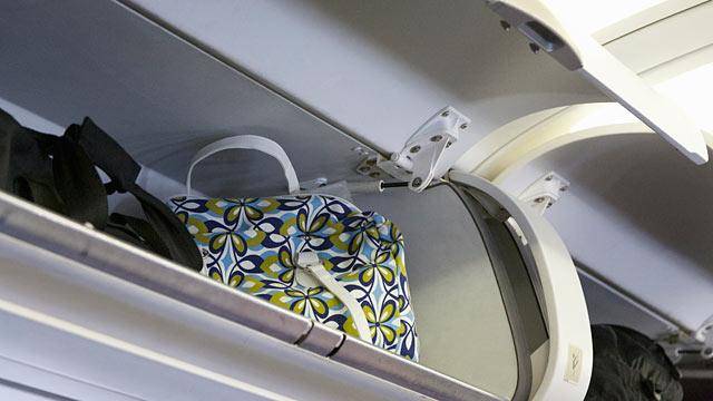 PHOTO: Overhead bins in Airplane.