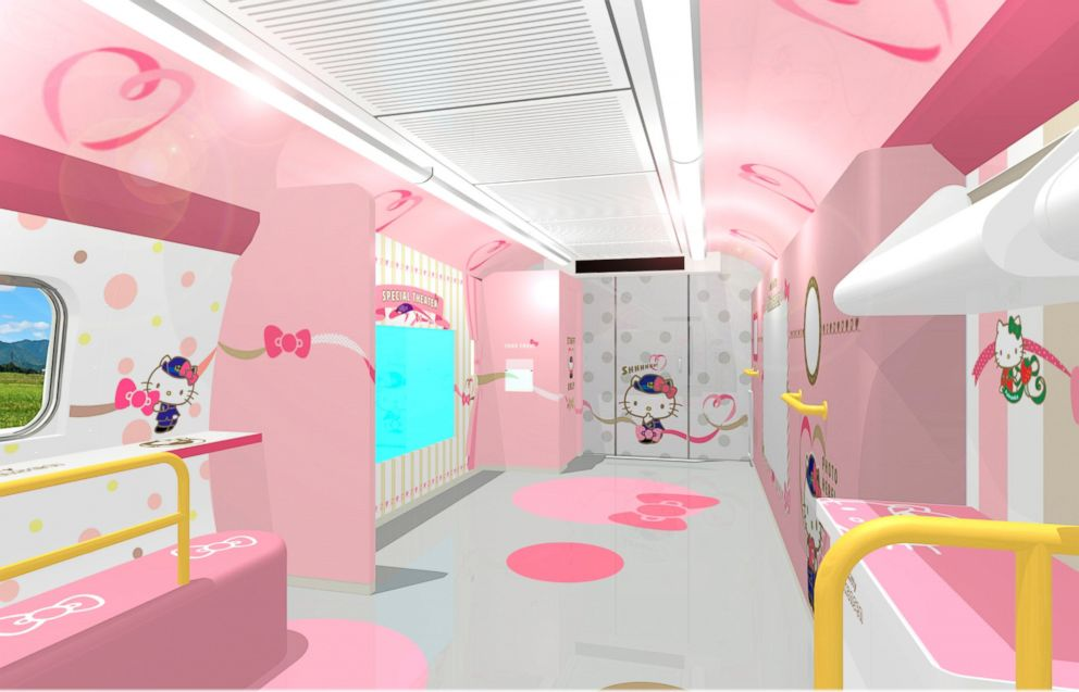 PHOTO: Tickets to ride the Hello Kitty-themed train can be purchased in-person at train station kiosks or reserved online.