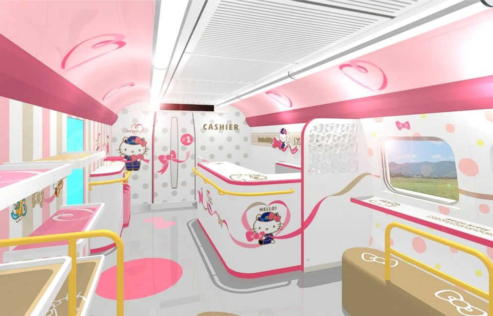 PHOTO: A Hello Kitty-themed train will bring passengers up the region of West Japan for a limited time.