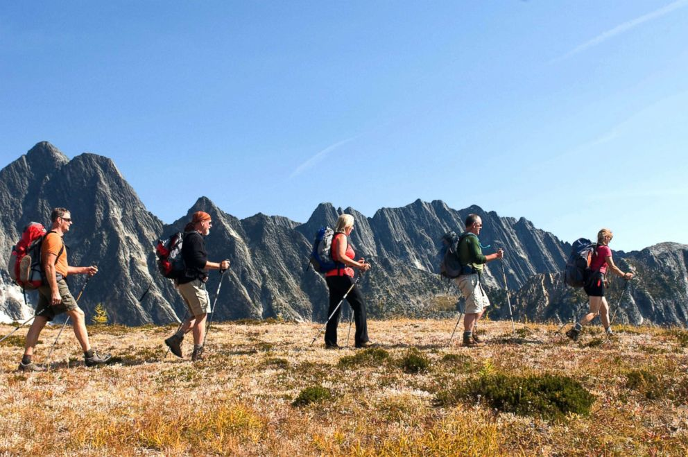 PHOTO: Guests take part in as many as four hikes per day at Mountain Trek.