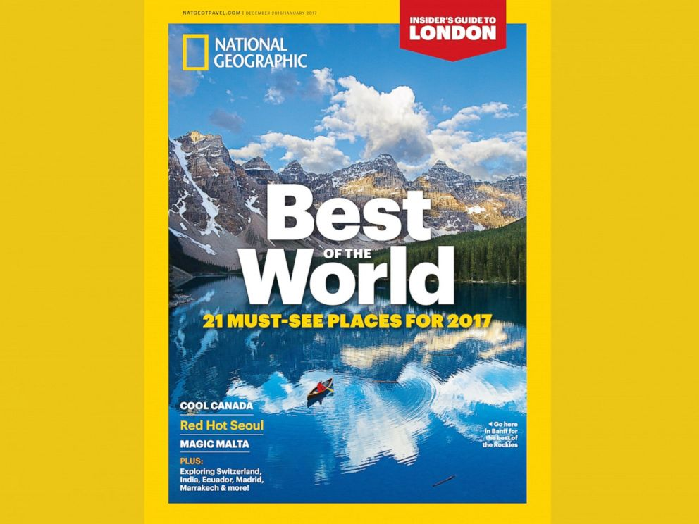 PHOTO: National Geographic Traveler names the must-see destinations for 2017.