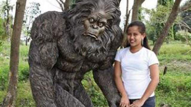 PHOTO: The nearly six-foot-tall Garden Yeti, available through SkyMall, will have guests doing a double-take as they admire your creative home or garden.