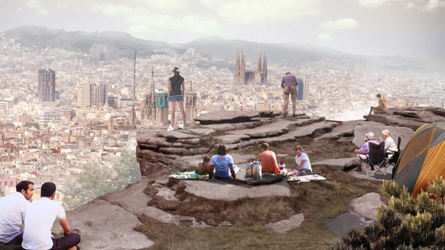 PHOTO: Only in concept stage at this point, the Barcelona Rock hostel project nevertheless got international attention when renderings were released in 2011.