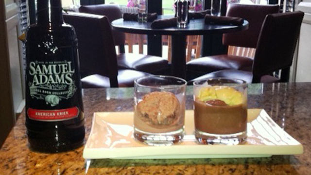 PHOTO: This beer float includes not only dark chocolate and vanilla bean ice cream, but also a third scoop of black cherry-nutella swirl.