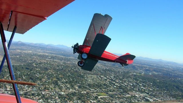 PHOTO: Channel the Wright Brothers in a biplane ride over San Diego with tour operator Barnstorming Adventures.