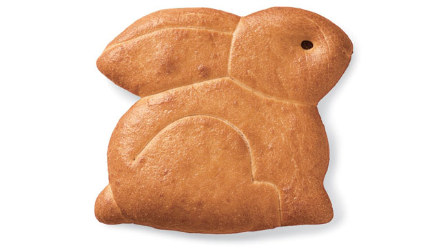 PHOTO: If you're all sugared out, Boudin is doing bunny-shaped sourdough biscuits that perfectly accompany a spring mix salad or a bowl of clam chowder for Easter brunch.