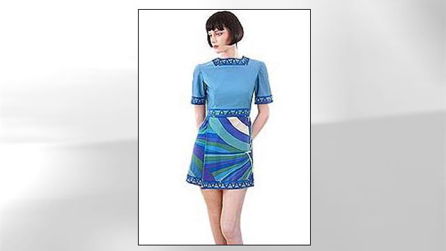 PHOTO: The Braniff International uniform from the 1970s featured a mini dress.