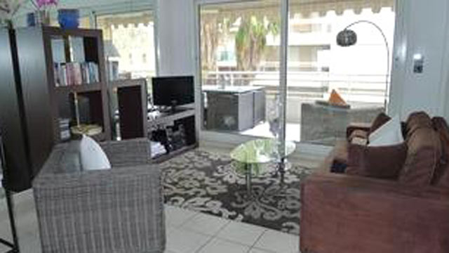 PHOTO: This rental in Cannes France is a short walk to town and on the beach.