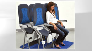 PHOTO The SkyRider is a saddle-style airplane seat which will allow airlines to squeeze even more passengers into already cramped cabins. The