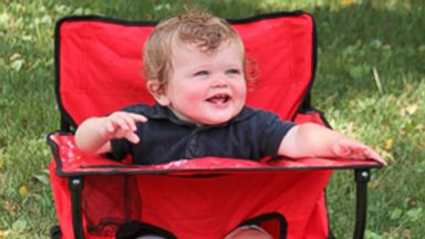 PHOTO: Families with kids in tow will love this portable high chair.