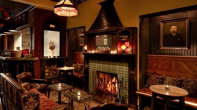 PHOTO: Dandelion Pub Fireplace