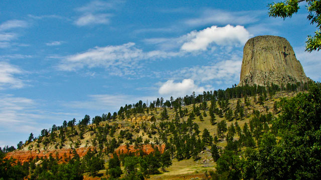 PHOTO: The first national monument in the U.S., Devils Tower, in northeastern Wyoming.